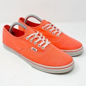 Vans Canvas Neon Pink Sneakers